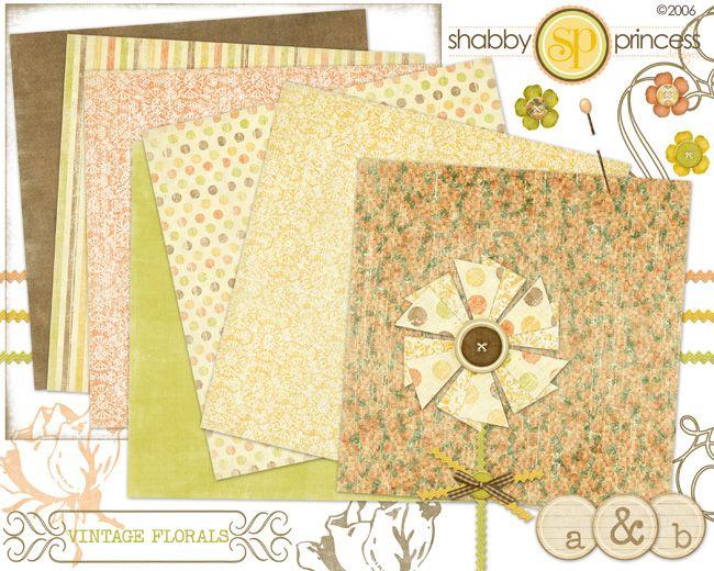 vintage floral - free download