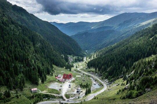 The way to Transfagarasan