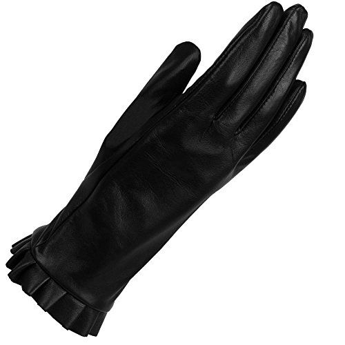 0bd4403f9 Wilsons Leather Womens Ruffled Hem Top Glace Leather Glove   Fashion ...
