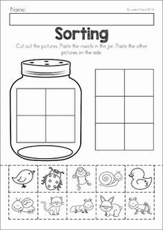 Spring Preschool No Prep Worksheets & Activities. A page from the unit: bug  sorting