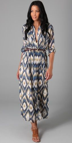 ikat inspired dress @Shopbop.com