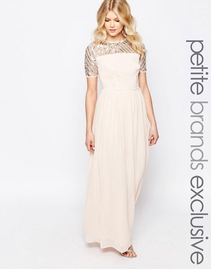 Image 1 ofMaya Petite Chiffon Embellished Maxi Dress