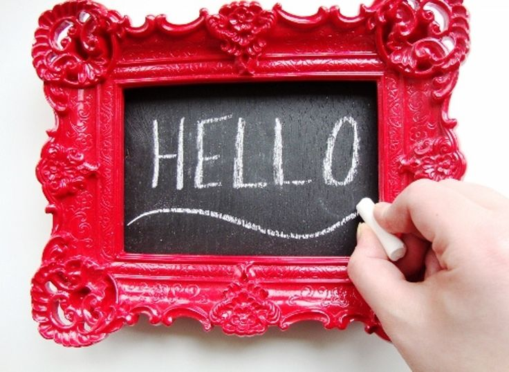 introducing a custom chalkboard grab a cute frame some spray paint and start painting - Diy Custom Framing