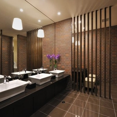 17 best images about commercial bathrooms on pinterest for Bathroom design restaurant