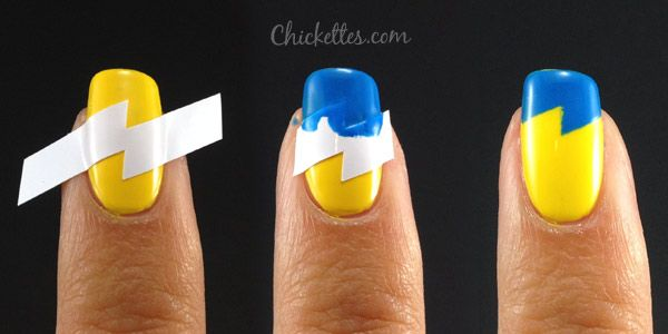 Chickettes.com:  How to use French tip sticker guidesHow To Make Nails Stickers, Nails Art, Nails Design, Chargers Nails, San Diego Chargers, French Tips, Lightning Nails, Art Tutorials, Stickers Guide