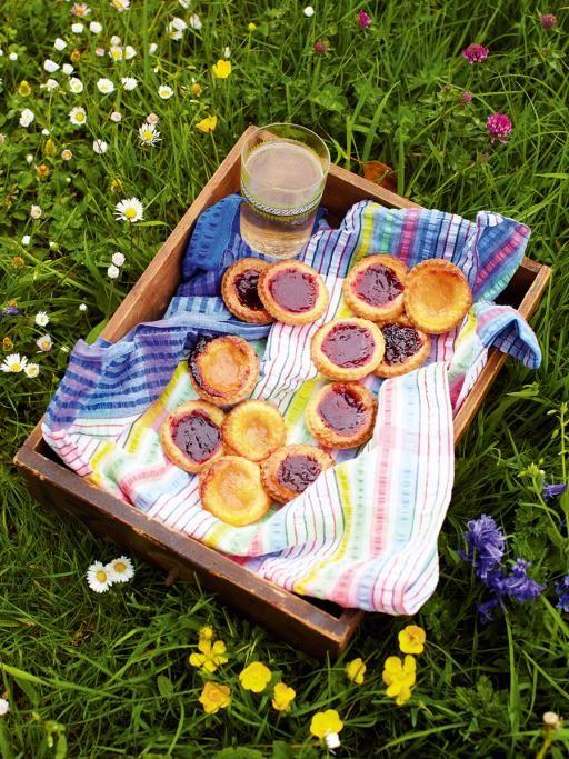 Jamie Oliver's Rainbow Jam Tarts.  I plan on making these with my homemade strawberry honey-sweetened jam.