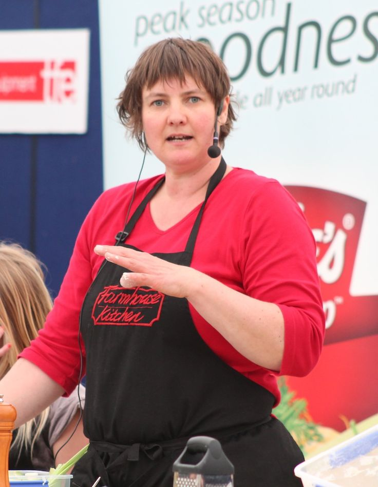 Pauline getting down to business at one of our events