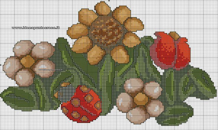 schema fiori  thun punto croce
