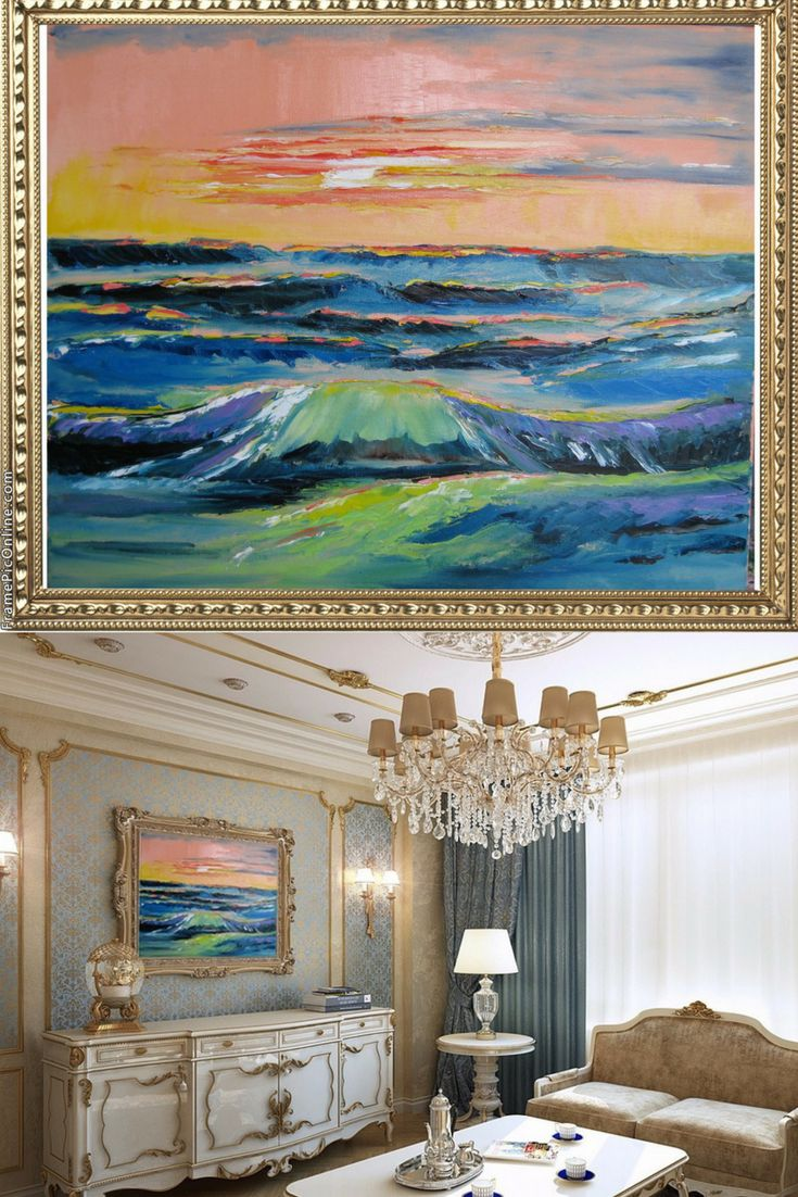 """""""Sea landscape"""". Original Oil Painting on Canvas. Home Decor. Perfect Gift. Wall Decor. Landscape painting. 2015. Performed in trendy palette knife technique. 20"""" х 24"""". 50,8х61 cm. Unframed. AVAILABLE FOR IMMEDIATE PURCHASE. Ready to hang.  This is an ORIGINAL oil painting on a wrapped stretched canvas.   The materials I use, including canvases, paints and mediums are permanent and of professional quality. As far as only lightfast pigments are employed in those paints formulation, the…"""