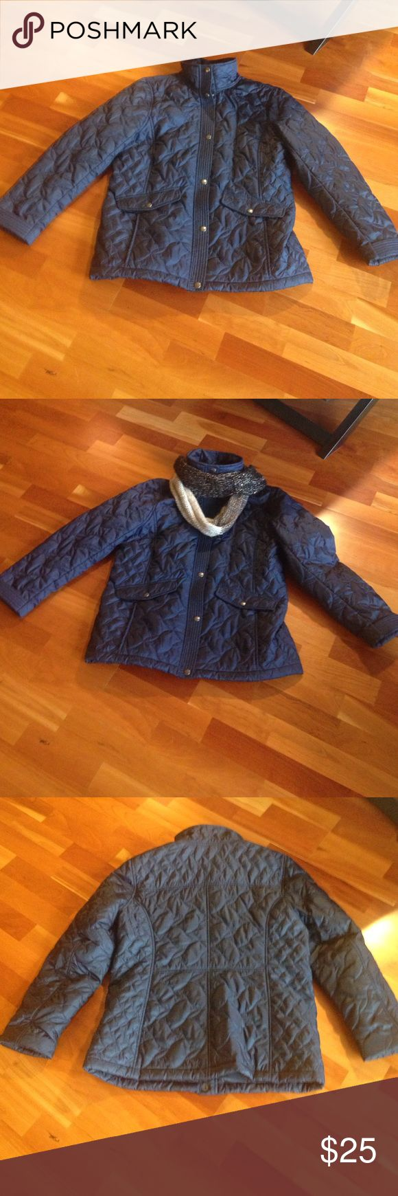 Lands End field coat Navy field jacket sz medium women's 10-12 so classy and comfortable! I purchased it at the lands end store in great condition only wore twice 😀 Lands' End Jackets & Coats Utility Jackets