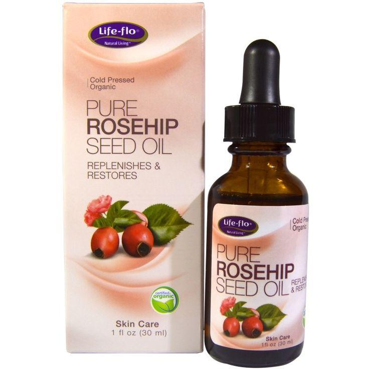 Life Flo Health, Чистое масло семян шиповника, уход за кожей, 1 унция (30 мл)