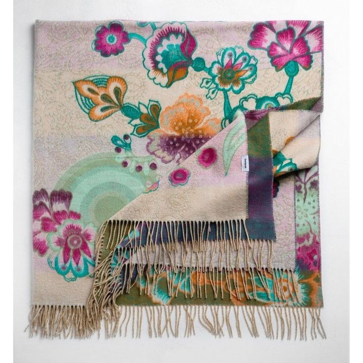 plaid coperta desigual happy blossom