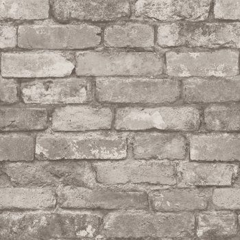 Fine Decor Rustic Brick Wallpaper Silver / Grey - Fine Decor from I love wallpaper UK