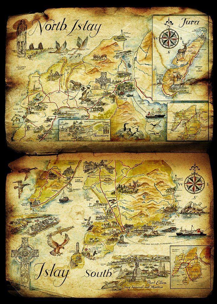 Isle of Jura Karte - Bowmore, Lagavulin, Ardbeg, Whisky ...