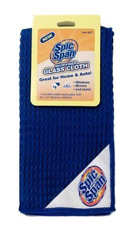 spic and span kleen maid 00821 blue 12 x 12 glass microfiber waffle weave cloth by spic and. Black Bedroom Furniture Sets. Home Design Ideas