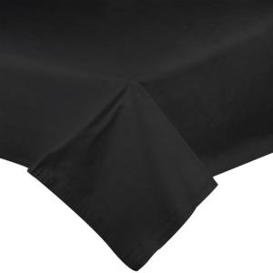 Black Vinyl Table Cover with Flannel Back - 25 Yard Roll