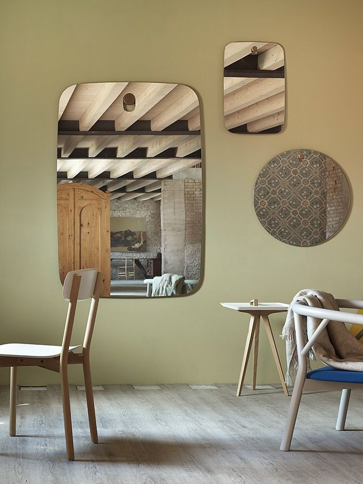 Wall-mounted rectangular #mirror BIGGER BROTHERS by @miniforms  | design Paolo Cappello