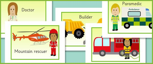 People Who Help Us Picture Cards...A set of 18 picture cards depicting various people who help in society. Ideal to use in classroom displays or as visual aids when teaching about 'people who help us'.
