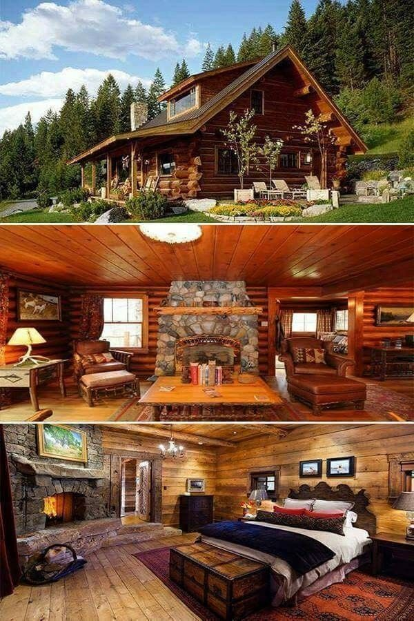 Log cabins and ideals | Log Home Decorating Ideas And Then ...