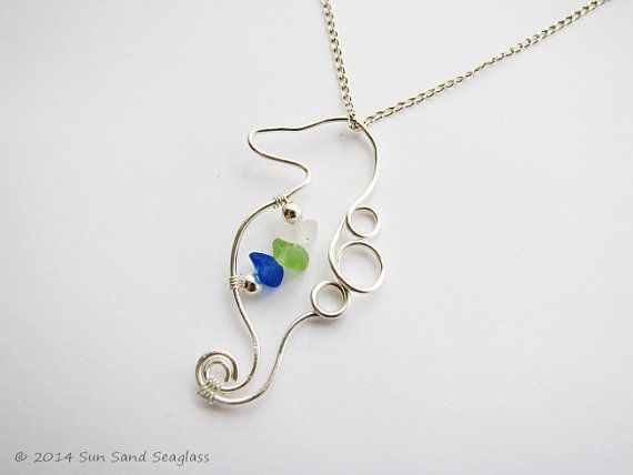 105 best sun sand seaglass handmade jewellery images on pinterest genuine sea glass seahorse necklace seaglass necklace seaglass jewelry beach glass neckace seahorse pendant sea glass jewelry mozeypictures Image collections