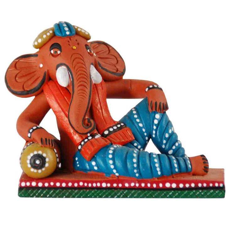 Ganesha Clay Idol on Sofa