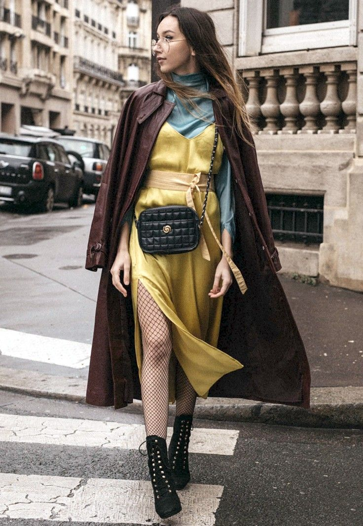 PFW Day 1: Canary Yellow Dress And Surprise Moments  - Click for The Fashion Cuisine in Music Ambiance http://gv.lauderlis.net/the_fashion_cuisine_3.php