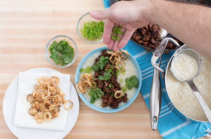 Caramelized Pork Congee Made by Top Chef Season 12's Chef Mei Lin from Blue Apron