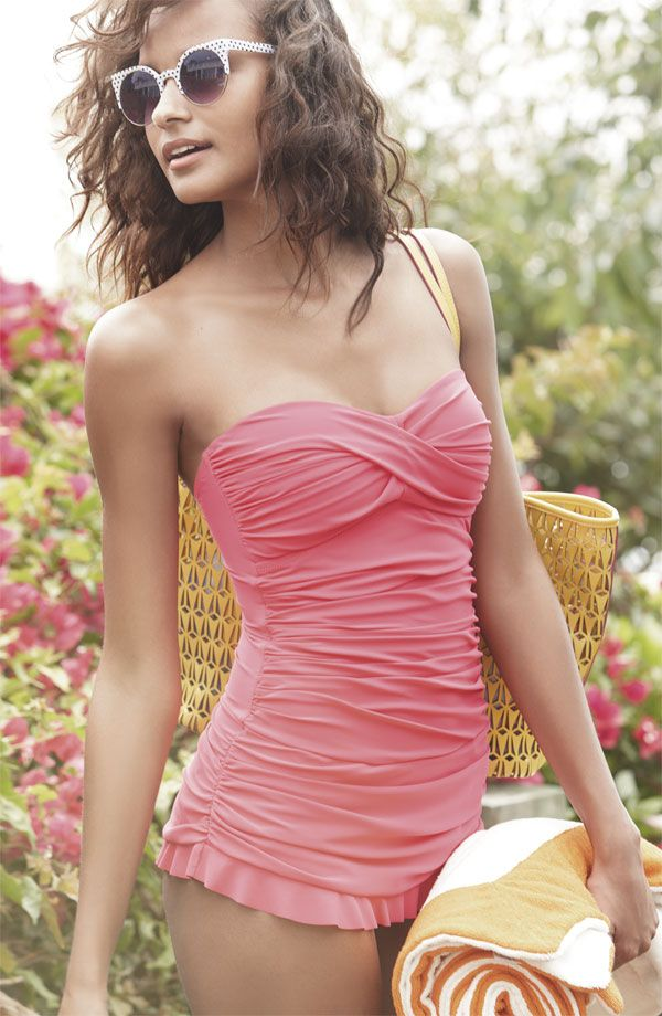 Pink. Ruffles. Swimsuit.