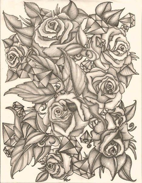 Rose Tattoo Sleeve Outline Half Sleeve Tat...