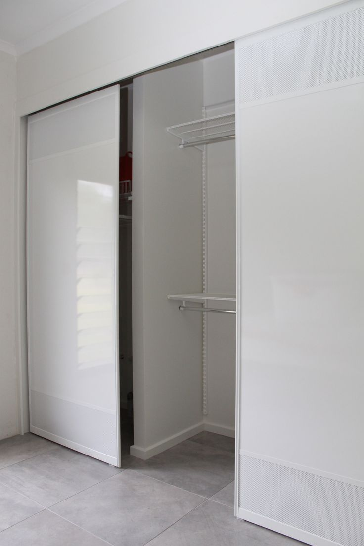 """White Stylite Sliding Doors with powder coated white mesh to match.   by Carl """"FormFunctionNT"""""""
