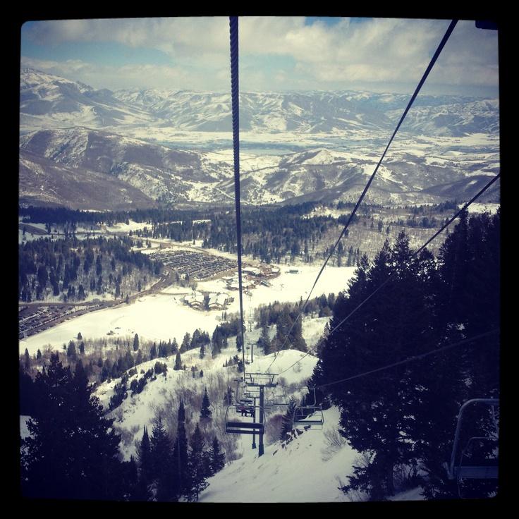 Great view from the John Paul Express at Snowbasin Resort