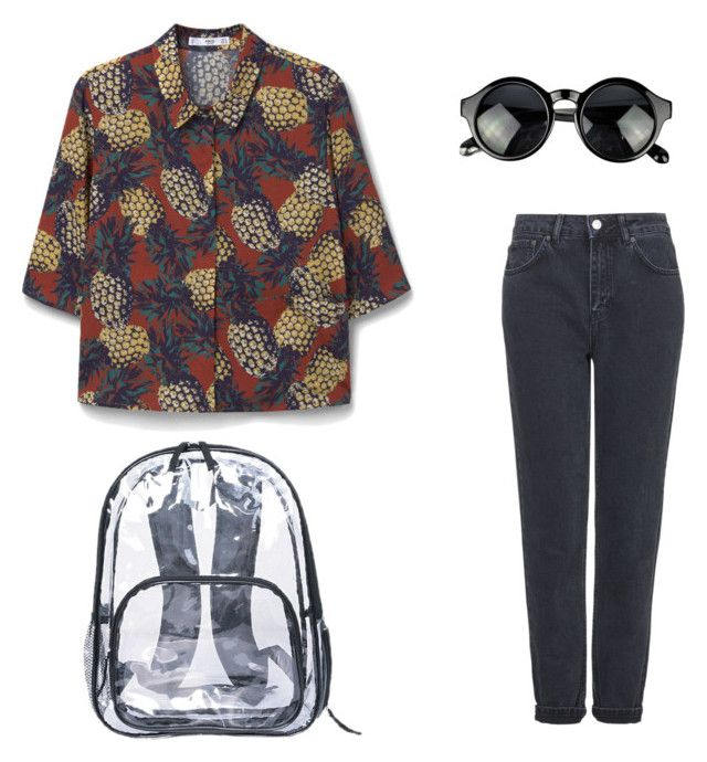 wow by stinkhead on Polyvore featuring polyvore, fashion, style, MANGO, Topshop and clothing