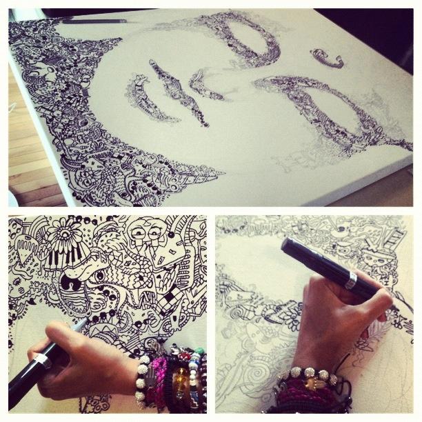 Gribouilliz doodles art graphic buddha facebook com gribouilliz