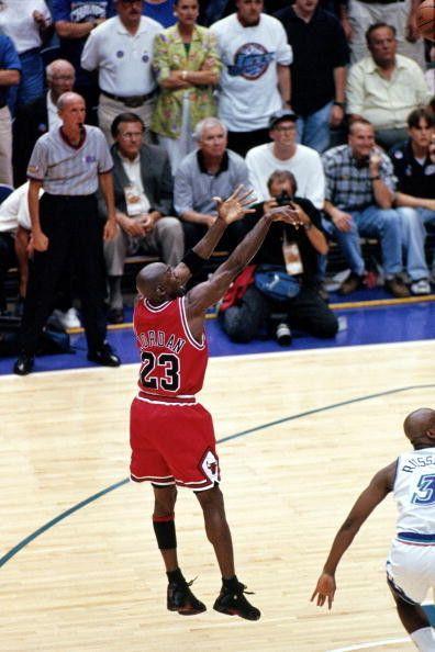 Michael Jordan Chicago Bulls Bryon Russell Jazz NBA Finals