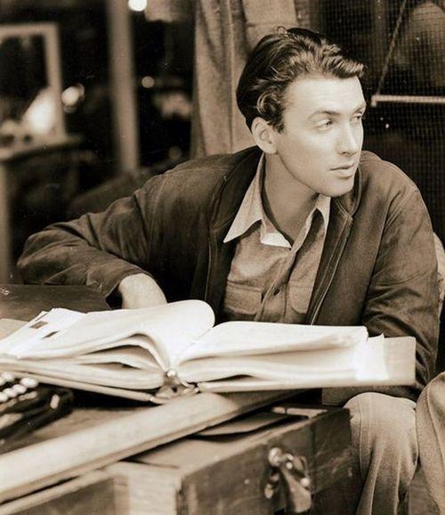 James Stewart on the set of Mr.Smith Goes To Washington, 1939