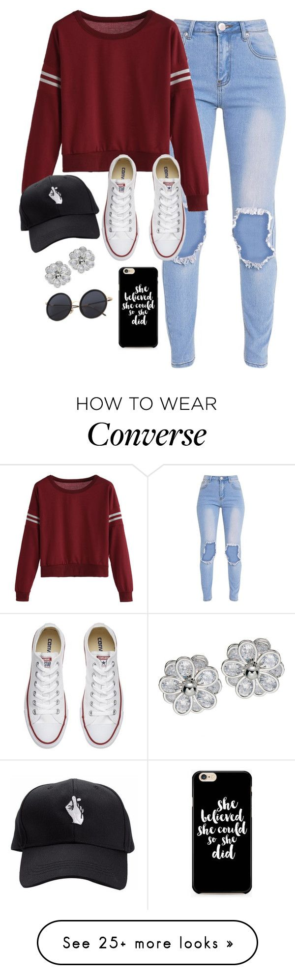 """Very cute, yet simple 18"" by lollypopz951 on Polyvore featuring Converse"