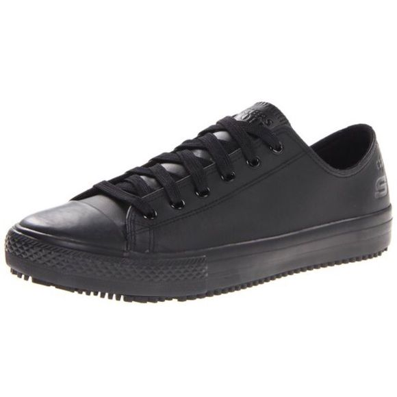 Non-Slip Shoes These are Skechers but look a lot like Converse. Slip-resistant  and have rubber soles! Perfect if you work at a restaurant! Onl…  ac4247ce0