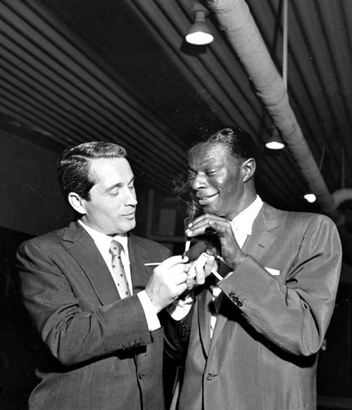 Perry Como and Nat King Cole photographed by Isaac Sutton, c. 1950's