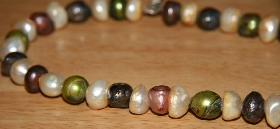 Giant fresh water pearl necklace