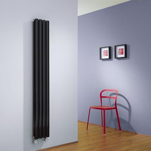 Make a statement with the Milano Aruba slim vertical designer radiator