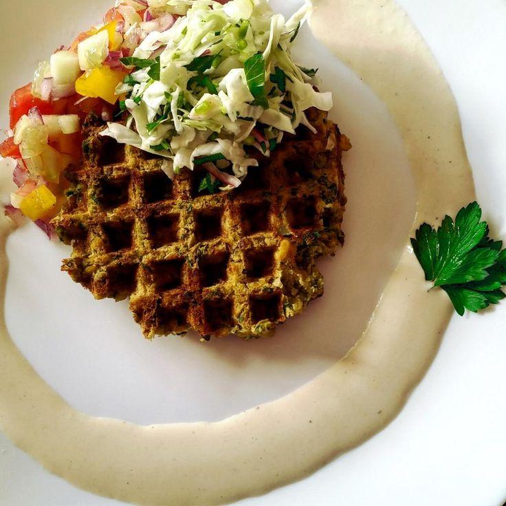 Falafel Waffle.