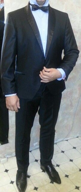 Black tie after finishing