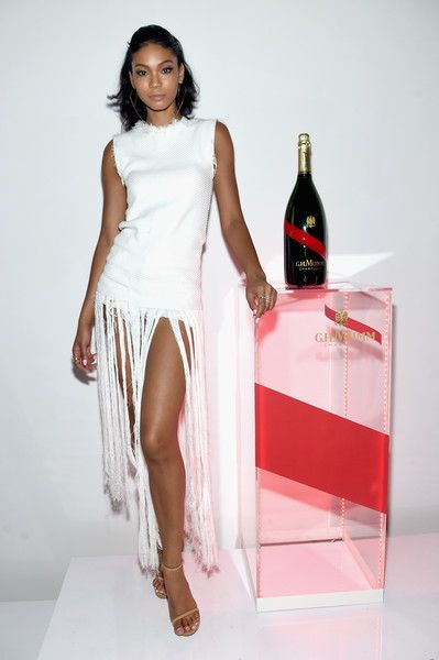 """Chanel Iman Photos - Model Chanel Iman attends the Mumm Champagne new """"Daring Delivery"""" film with Kellan Lutz celebration on June 14, 2016 in New York City. - Mumm Champagne Celebrates New 'Daring Delivery' Film With Kellan Lutz"""