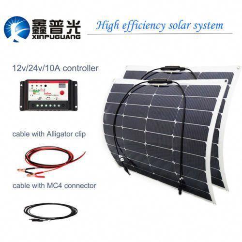 100w 16 5v Flexible Solar Panel Kit 2x50w10a Controller For Boat Motorhome Home Home Stuff Improvemen Flexible Solar Panels Solar Panels Solar Energy Panels