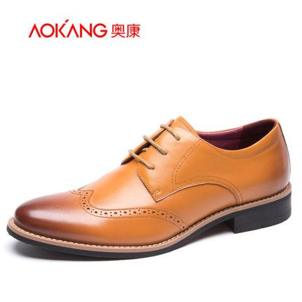 Aokang New arrival Genuine Leather men shoes Casual Flats Dress Shoes Men Autumn Oxfords Shoes For Mens Loafers Zapatos Hombre