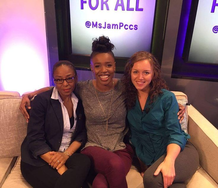 Our interview on A Voice For All is a wrap! Left to right: Konnie Keyworth (@no72jewelry) host @iamjamgamble and #AutismCanada ambassador Chantale Pomerleau.