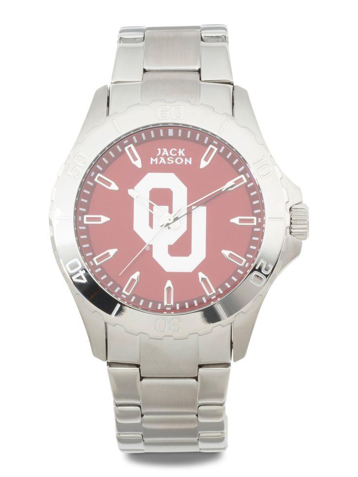 Men's Oklahoma Sooners Sport Bracelet Watch