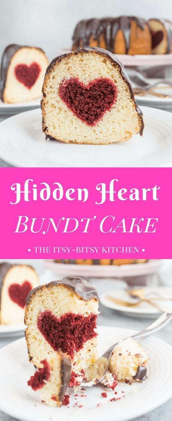 Hidden Heart Valentine S Day Cake Recipe Food Art Design