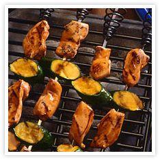 Teriyaki Chicken & Zucchini Kabobs