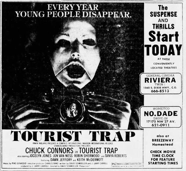Tourist Trap (1979) Tourist trap, Horror movie posters